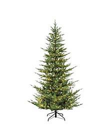 """6.5"""" Pre-Lit Natural Fir Artificial Christmas Tree"""