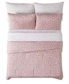 Leopard 5 Piece Bed in a Bag, Twin