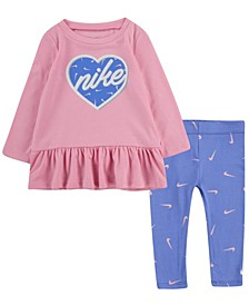 Baby Girls Peplum T-Shirt and Leggings Set