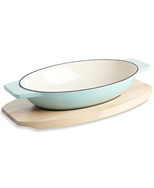 Au Gratin Baker with Birchwood Trivet