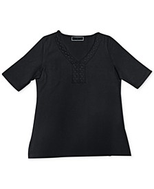 Crochet-Trim Top, Created for Macy's