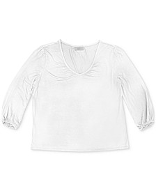 Plus Size V-Neck Top, Created for Macy's