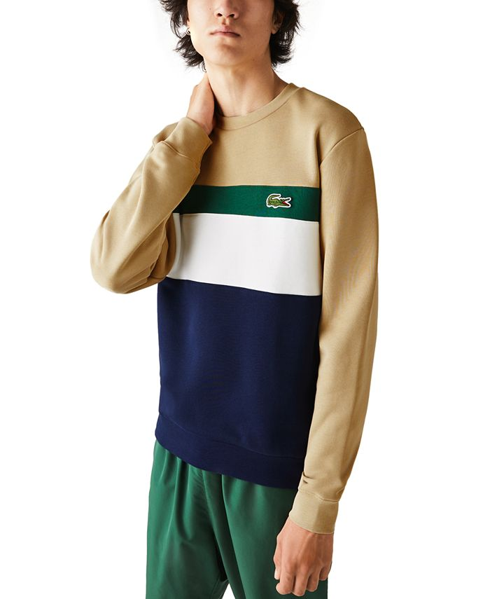 Lacoste - Men's Colorblock Striped Sweatshirt