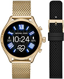 Women's Gen 5 Lexington Gold-Tone with Strap Set Smartwatch 44mm