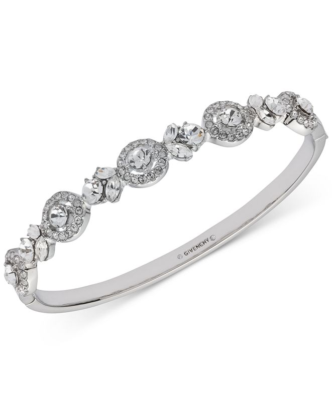 Givenchy Multi-Crystal Bangle Bracelet