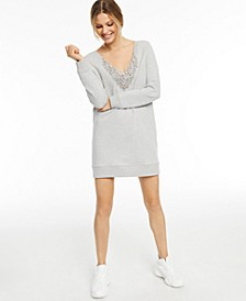 CULPOS x INC Embellished V-Neck Sweater Dress, Created for Macy's