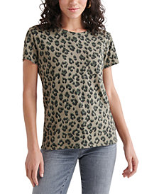 Lucky Brand Cheetah-Printed Top