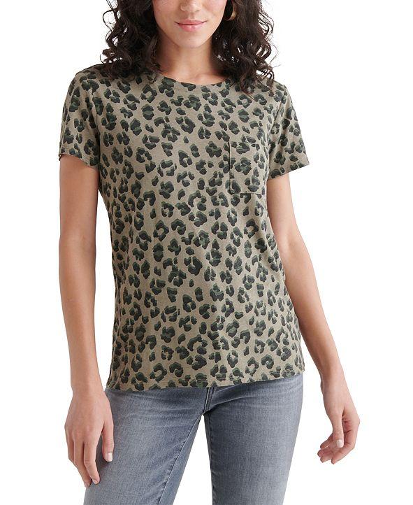 Lucky Brand Cheetah-Printed Top
