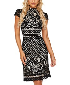 Lace High-Neck Dress