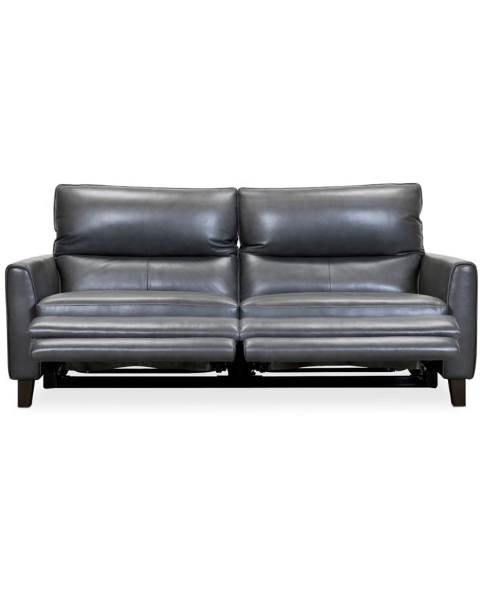 """Furniture Tyvon 80"""" Leather Power Motion Sofa & Reviews - Furniture - Macy's"""
