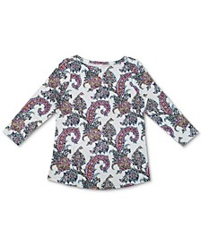3/4-Sleeve Cotton Top, Created for Macy's