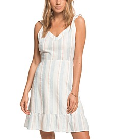 Juniors' Sunday With You Striped Dress