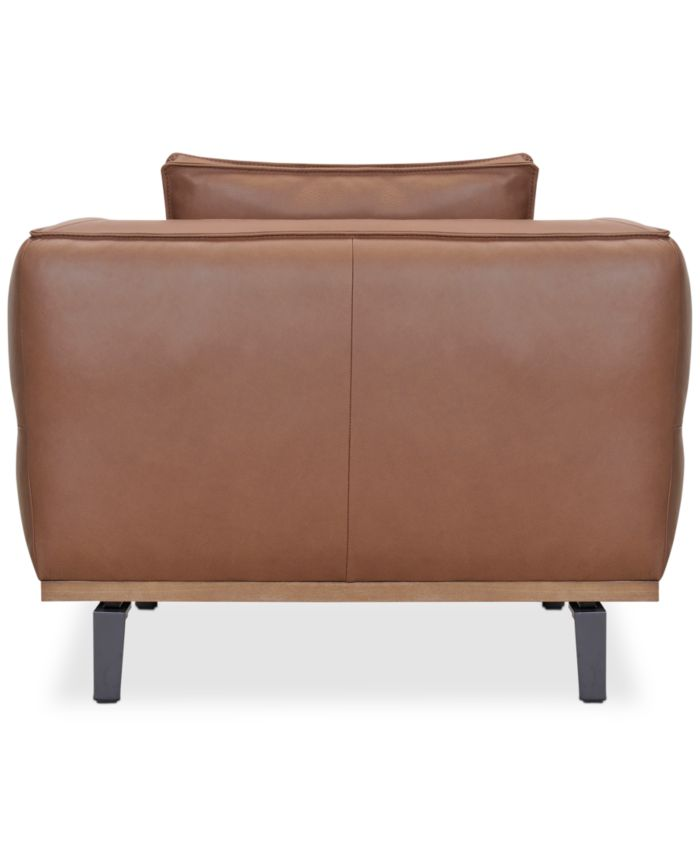 """Furniture Aubreeze 41"""" Leather Accent Chair, Created for Macy's & Reviews - Furniture - Macy's"""