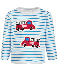 Baby Boys Long-Sleeve Firetruck T-Shirt, Created for Macy's