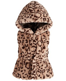 Baby Girls Hooded Leopard-Print Vest, Created for Macy's