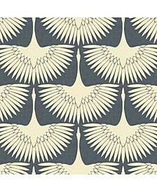 Feather Flock Self-Adhesive Wallpaper