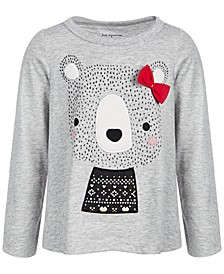 Baby Girls Holiday Bear Long-Sleeve T-Shirt, Created for Macy's