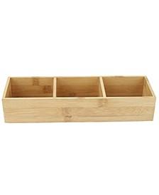3-Section Bamboo Desk Organizer