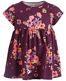 Baby Girls Short Sleeve Floral Bloom Tunic, Created for Macy's