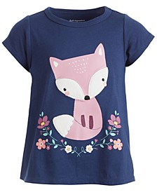 Baby Girls Short Sleeve Town Fox Tee, Created for Macy's