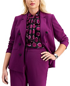 Trendy Plus Size Faux Double-Breasted Blazer, Created for Macy's