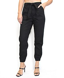 Crave Fame Juniors' Belted Jogger Pants