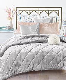 Reversible 3-Pc. Crushed Velvet Full/Queen Comforter Set, Created for Macy's