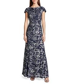 Lace Foil Gown