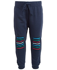 Baby Boys Striped Knee Jogger Pants, Created for Macy's