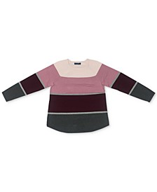 Petite Thea Cotton Colorblocked Sweatshirt, Created for Macy's