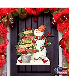 by Susan Winget Joy Love Piece Snowman Outdoor Wall and Door Decor
