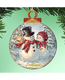 by Dona Gelsinger Snow love Couple Ornament, Set of 2