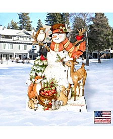 by Susan Winget Ivory Snowman Outdoor, Wall and Lawn Decor