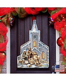 by Dona Gelsinger Nativity at The Chapel Wall and Door Hanger