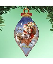by Dona Gelsinger Faithfull Friends Santa Ornament, Set of 2