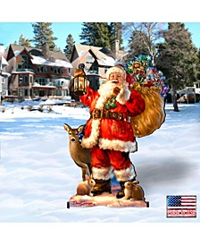 by Dona Gelsinger Woodland Santa Home and Outdoor Decor