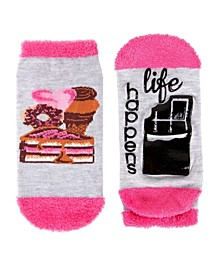 Life Happens Chocolate Helps Women's Low Cut Socks