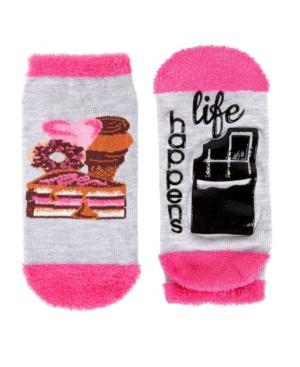 Life Happens Chocolate Helps Women's Low Cut Socks