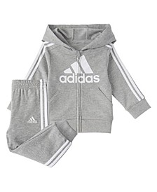 Toddler Boys Zip Front Essentials French Terry Hoodie Jogger Set