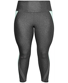 Plus Size Mesh-Panel Leggings