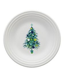 "Blue Christmas Tree Luncheon Plate, 9"""