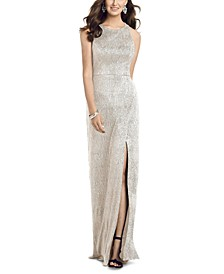 Metallic A-Line Gown