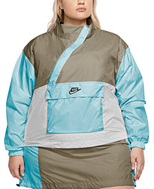 Nike Plus Size Zipper Anorak Jacket