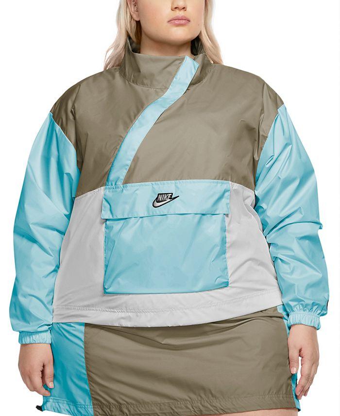 Nike - Plus Size Zipper Anorak Jacket
