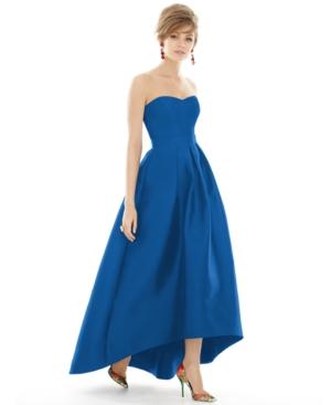 Strapless High-Low Maxi Dress