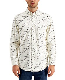 Men's Bird-Print Corduroy Cotton Shirt, Created for Macy's