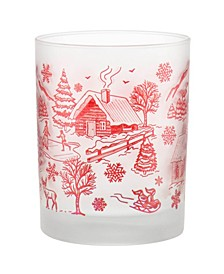 Lodge Toile Village DOF Glass, Set of 4