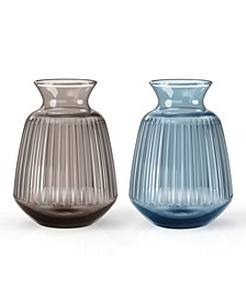 2 Piece Pleat Vase Set