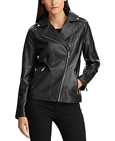 Leather Asymmetrical Moto Jacket