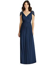 Jenny Packham Cutout-Back Chiffon Gown